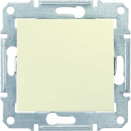 Выключатель 1-кл.. IP44, цвет слоновая кость, Sedna