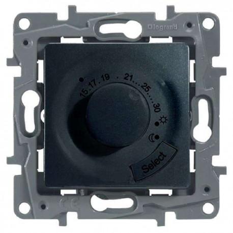 Термостат для тёплых полов, цвет антрацит, Legrand Etika 672630