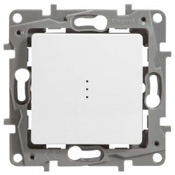 Выключатель 1- клавишный, с подсветкой, цвет белый, Legrand Etika 672203