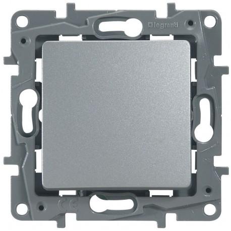 Кнопка 1-клавішна, колір алюміній, Legrand Etika
