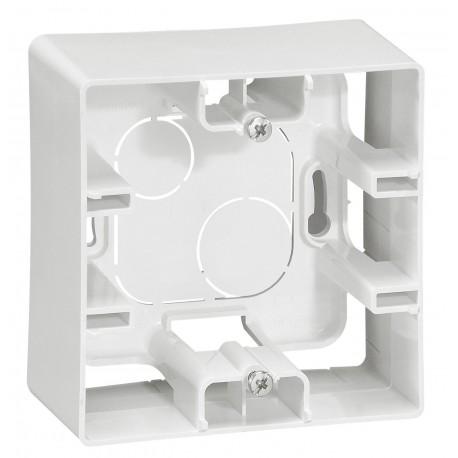 Коробка для накладного монтажа, 1-ная, цвет белый, Legrand Etika 672510