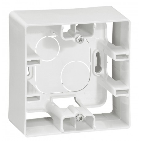 Коробка для накладного монтажу, 1-на, колір білий, Legrand Etika