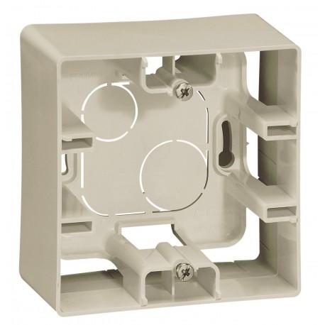 Коробка для накладного монтажу, 1-на, колір слонова кістка