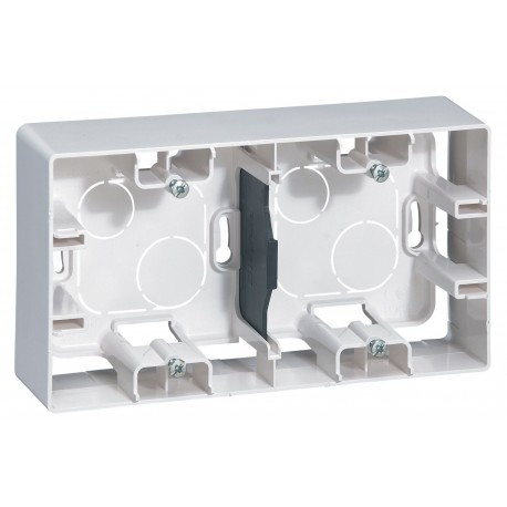 Коробка для накладного монтажа, 2-ная, цвет белый, Legrand Etika 672530