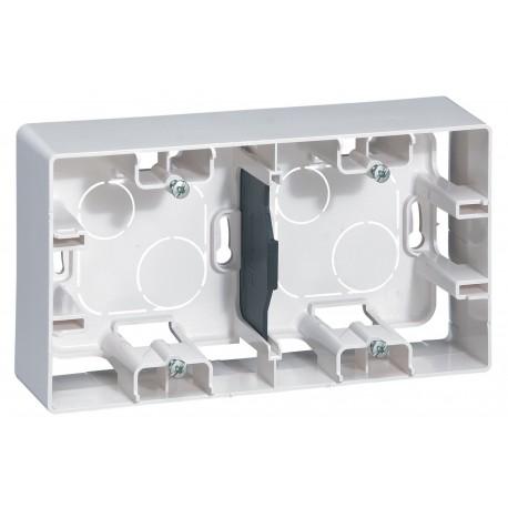 Коробка для накладного монтажу, 2-на, колір білий, Legrand Etika