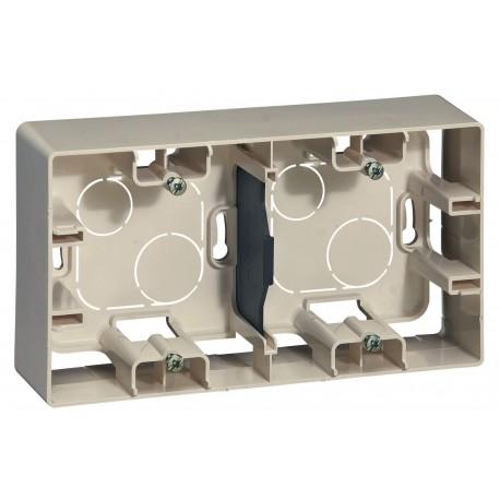 Коробка для накладного монтажа, 2-ная, цвет слоновая кость, Legrand Etika 672540