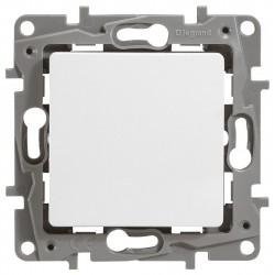 Переключатель 1- клавишный, цвет белый, Legrand Etika 672205