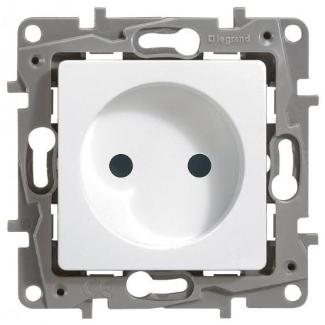 Розетка 2К, без заземлення, 16А, колір білий, Legrand Etika