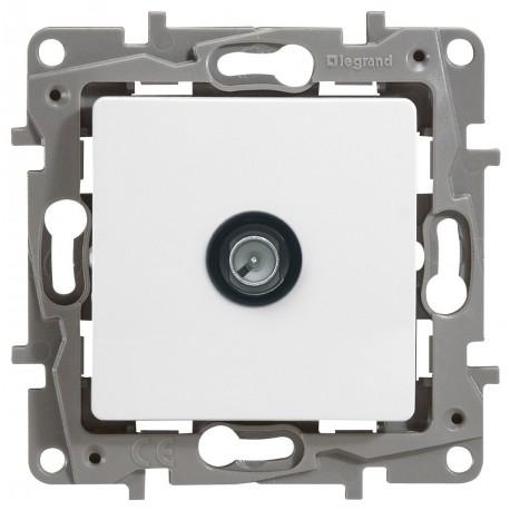 Розетка TV кінцева, 2400 МГц, 10дб, колір білий, Legrand Etika