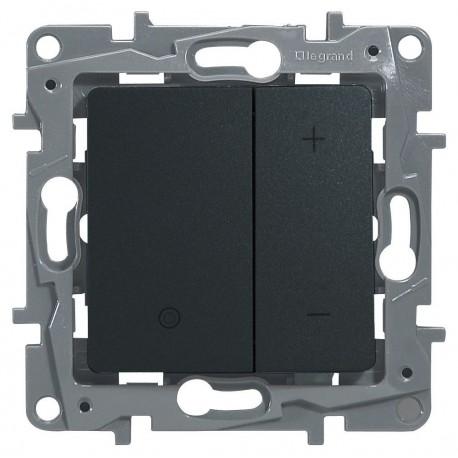 Светорегулятор, 400 Вт, нажимной, цвет антрацит, Legrand Etika 672618