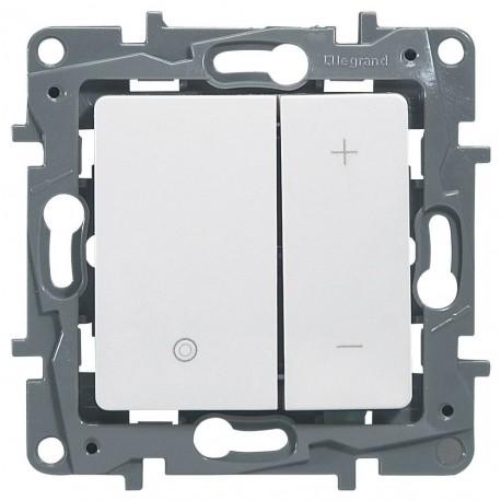 Светорегулятор, 400 Вт, нажимной, цвет белый, Legrand Etika 672218
