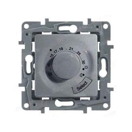 Термостат для тёплых полов, цвет алюминий, Legrand Etika 672430