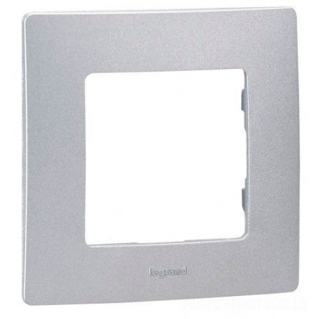 Рамка 1-я, цвет алюминий, Legrand Etika 672551