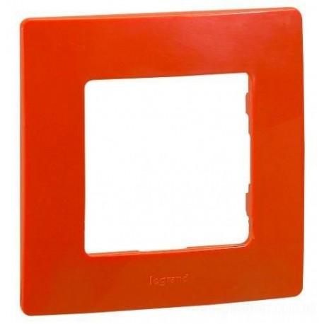 Рамка 1-я, цвет красный, Legrand Etika 672531