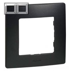 Рамка 2-я, цвет антрацит, Legrand Etika 672582