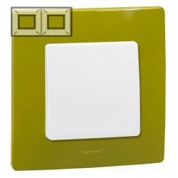 Рамка 2-я, цвет зеленый папоротник, Legrand Etika