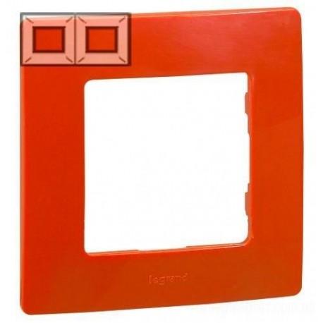 Рамка 2-я, цвет красный, Legrand Etika 672532