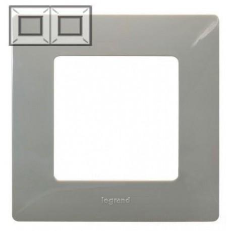 Рамка 2-а, колір світла галька, Legrand Etika