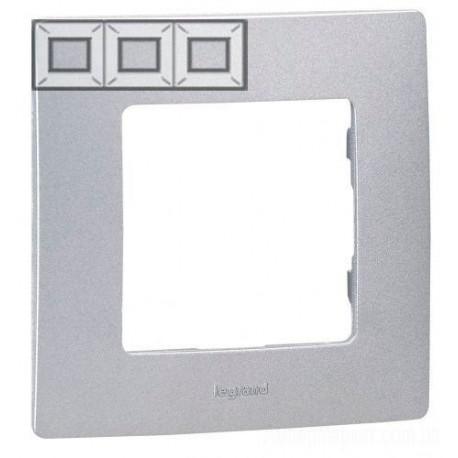 Рамка 3-я, цвет алюминий, Legrand Etika 672553