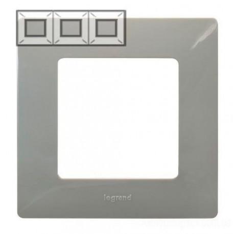 Рамка 3-а, колір світла галька, Legrand Etika