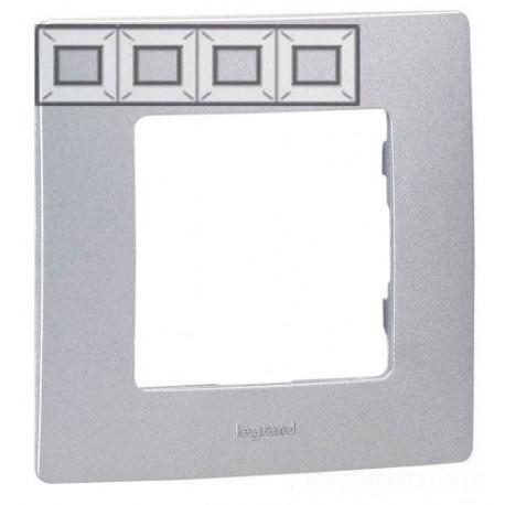 Рамка 4-я, цвет алюминий, Legrand Etika 672554