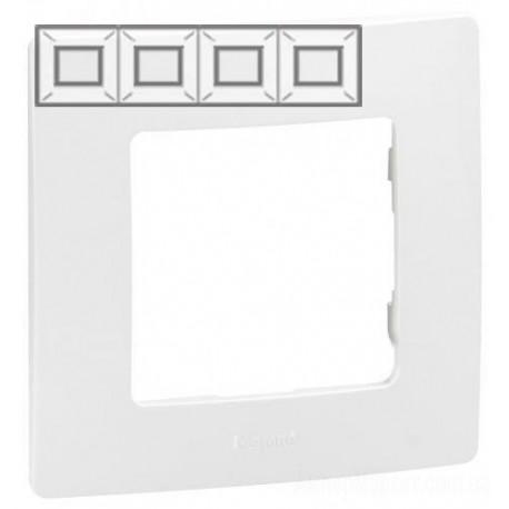 Рамка 4-я, цвет белый, Legrand Etika 672504