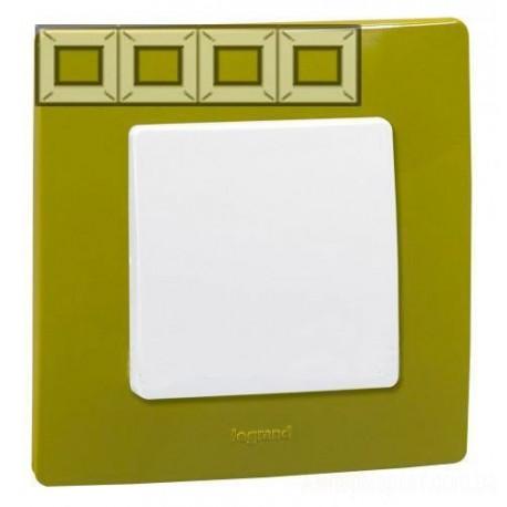 Рамка 4-а, колір зелений папороть, Legrand Etika
