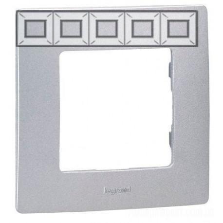 Рамка 5-я, цвет алюминий, Legrand Etika 672555