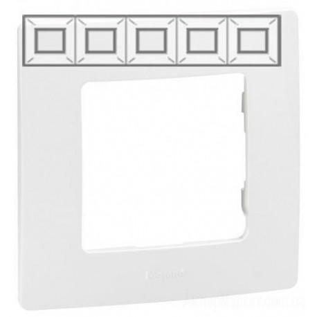 Рамка 5-а, колір білий, Legrand Etika