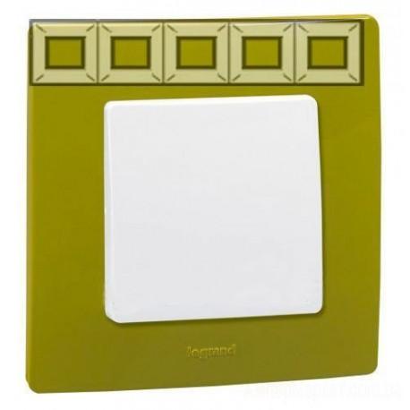 Рамка 5-а, колір зелений папороть, Legrand Etika