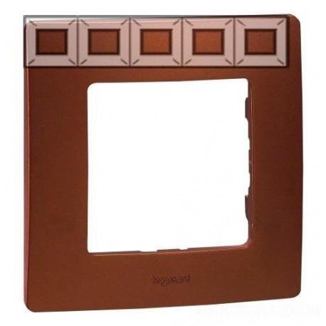 Рамка 5-а, колір какао, Legrand Etika