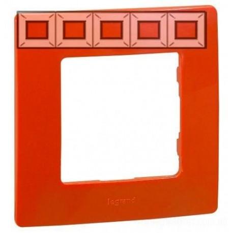 Рамка 5-я, цвет красный, Legrand Etika 672535