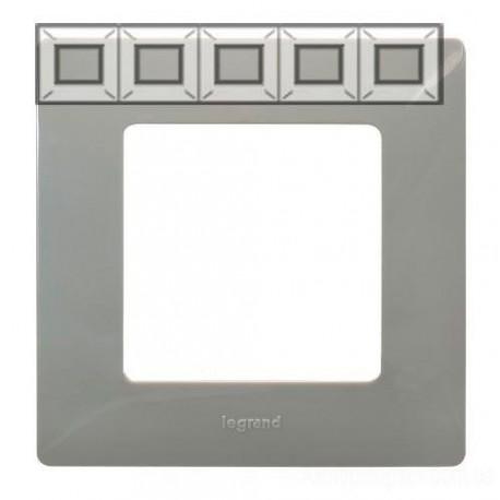 Рамка 5-я, цвет светлая галька, Legrand Etika 672525