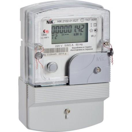 Лічильник елетроенергіі однофазний НІК 2102-Е2Т