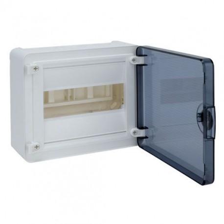 Щит зовнішній Hager Golf VS108TD, 8 модулів прозорі дверцята