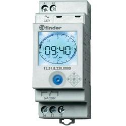 Реле времени недельное, 1CO, 16A, 230В AC, электронное, аналоговый LCD, модульное, 125182300000 Finder