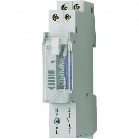 Реле времени суточное, 1NO, 16A, 230В AC, электромеханическое, с резервным ист.питания, модульное, 121182300000 Finder