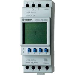 Реле времени недельное, 1CO, 16A, 12В AC/DC, электронное, LCD, модульное, 122100120000 Finder