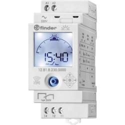 Реле времени Astro, суточное, 1CO, 16A, 230В AC, электронное, аналоговый LCD, модульное, 128182300000 Finder