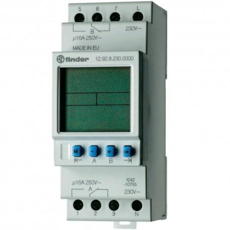 Реле времени Astro, недельное, 1CO, 16A, 230В AC, электронное, модульное, 129282300000 Finder