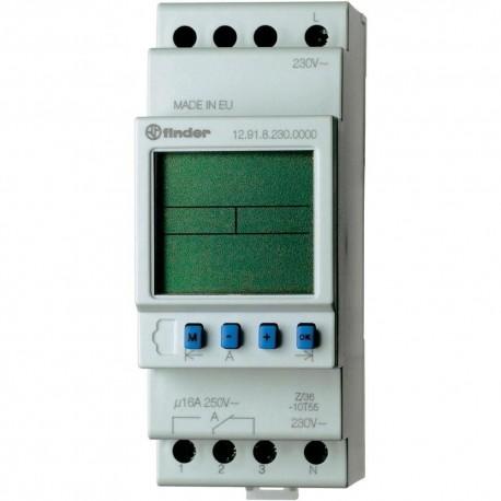 Реле времени Astro, недельное, 1CO, 16A, 230В AC, электронное, LCD, программ. ПК, модульное, 129182300090 Finder