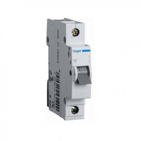 Автоматичний вимикач 0,5 А, 1 полюс, тип C, 6 kA, MC100A Hager