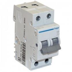 Автоматический выключатель 2 А, 2 полюса, тип С, 6 kA, MC202A Hager