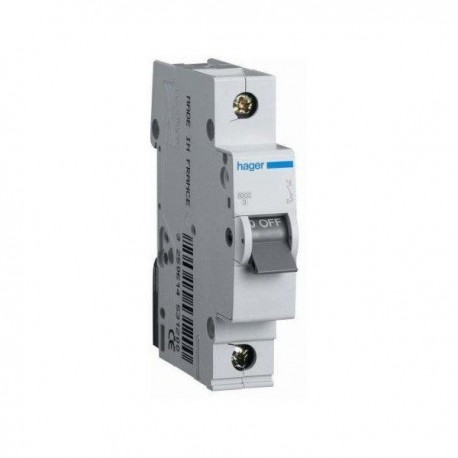 Автоматичний вимикач 63 А, 1 полюс, тип C, 6 kA, MC163A Hager