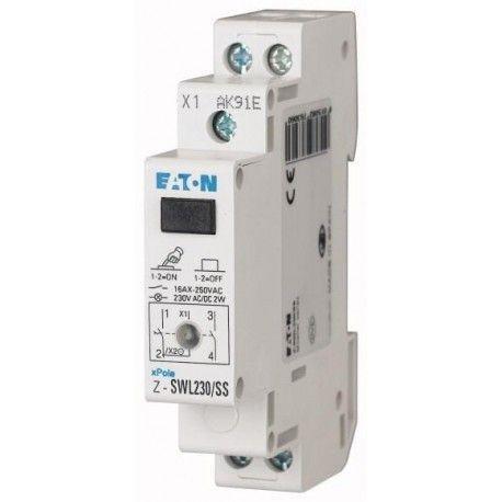 Переключатель, 2НО, светодиод 230В, Z-SWL230/SS, 276306 Eaton