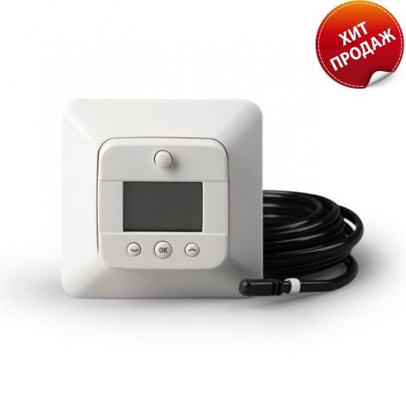 Терморегулятор комбинированный цифровой с датчиками пола и воздуха, 16А, белый, Ensto