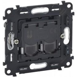 Механизм розетки телефонной RJ11, 2-ная, 4 контакта, Valena Life/Allure, Legrand 753039