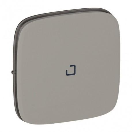 Лицевая панель выключателя 1-клавишного с подсветкой, цвет алюминий, Valena Allure, Legrand 755087