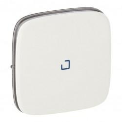 Лицевая панель выключателя 1-клавишного с подсветкой, цвет белый, Valena Allure, Legrand 755085