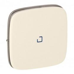 Лицевая панель выключателя 1-клавишного с подсветкой, цвет слоновая кость, Valena Allure, Legrand 755086